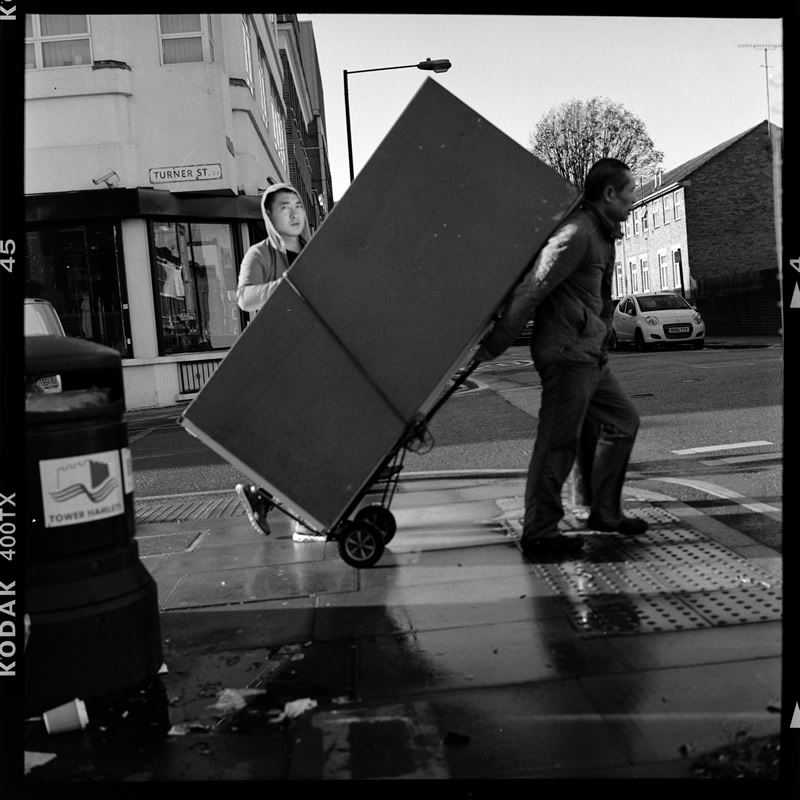 Artistic street photography in black and white